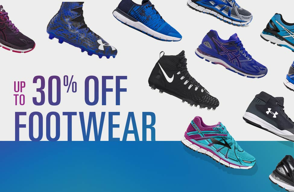 Up To 30% Off Footwear | Asics, UA, Nike, Brooks & More