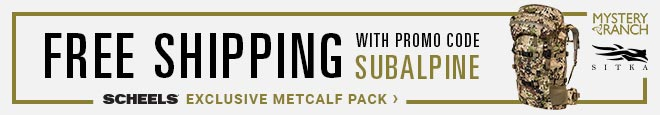 """SCHEELS Exclusive Subalpine Metcalf Pack 