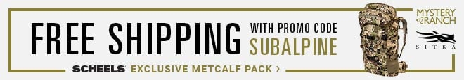 "SCHEELS Exclusive Subalpine Metcalf Pack | Free Shipping with promo code ""SUBALPINE"" 