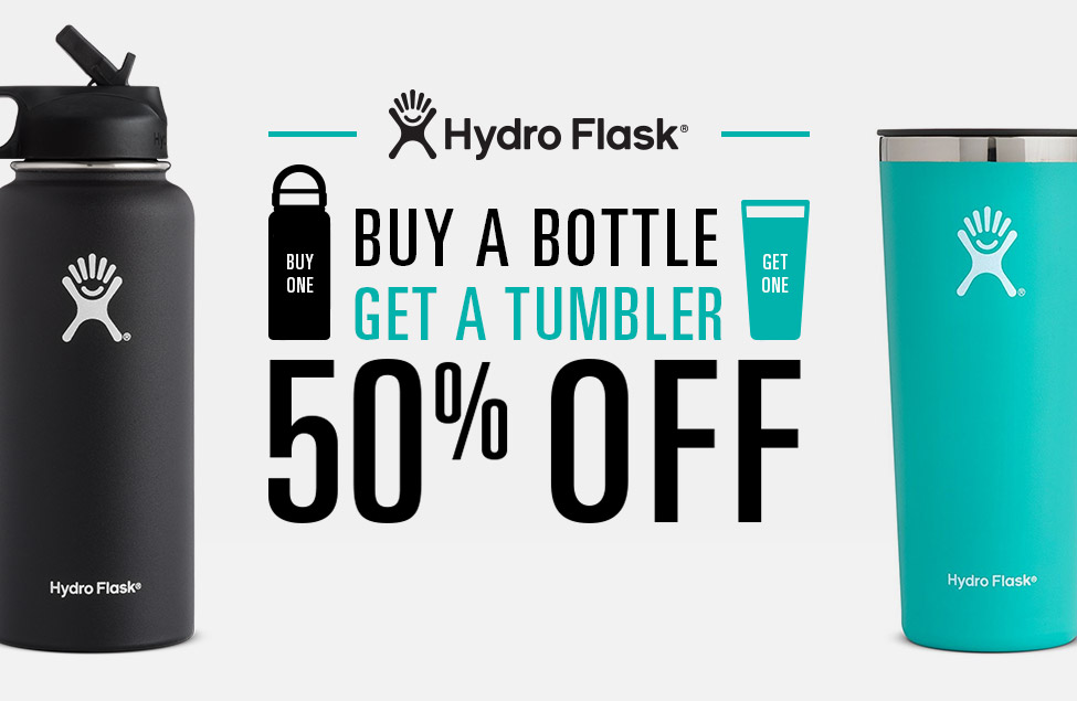 Hydro Flask - Buy A Bottle, Get A Flask 50% Off