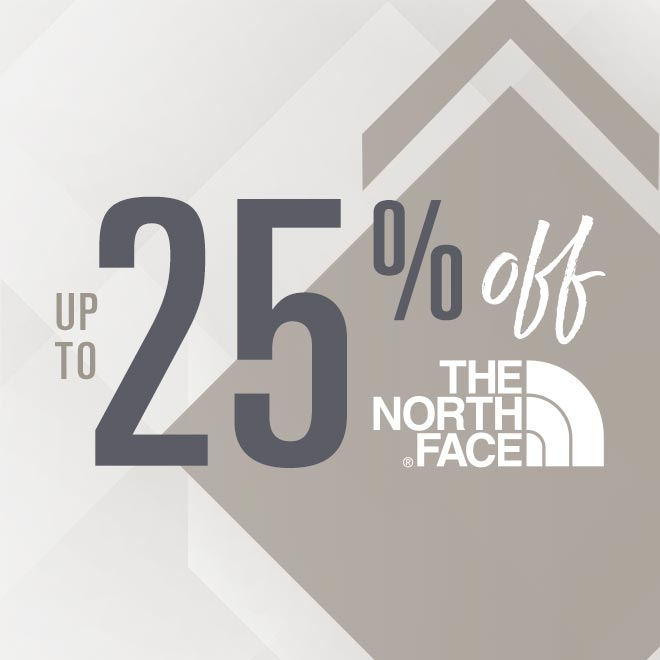Up To 25% Off The North Face