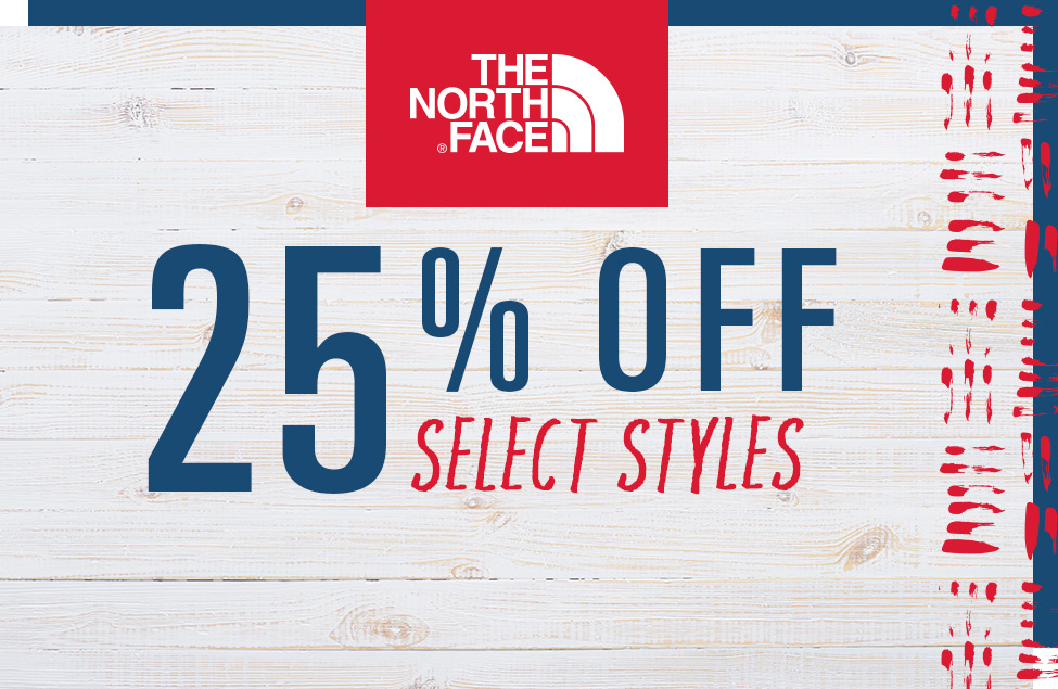 25% Off The North Face Select Styles, Family on the beach wearing TNF apparel