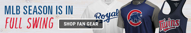 MLB Season is in Full Swing, Shop Fan Gear. Royals, Cubs, Twins and more