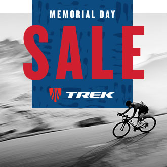 Memorial Day Sale, Cyclist on Trek Bike