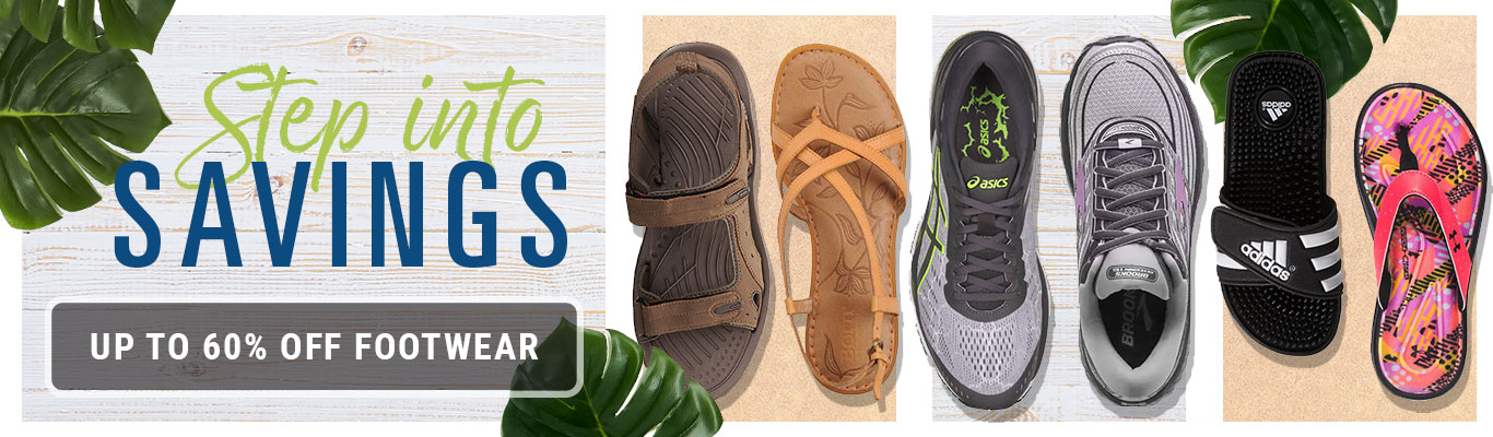 Step Into Savings, Up to 60% Off Footwear