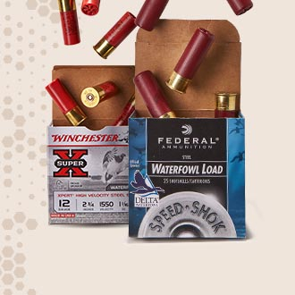 Boxes of Winchester and Federal Ammunition Waterfowl Load