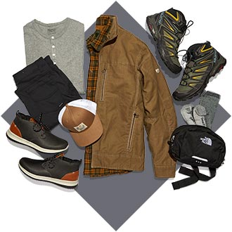 Mens Casual Apparel, Footwear, and Accessories