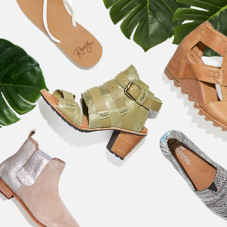 Sandals, Booties, Flats, Wedges, and More
