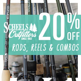 Scheels Outfitters 20% Off Rods Reels & Combos