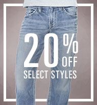 Save 20% on Mens Denim