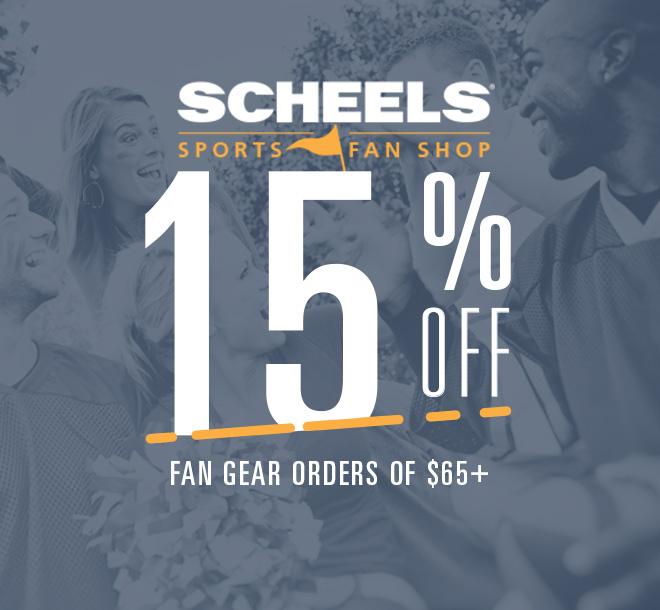 SCHEELS Sports Fan Shop 15% Off Fan Gear Orders of $65 or More