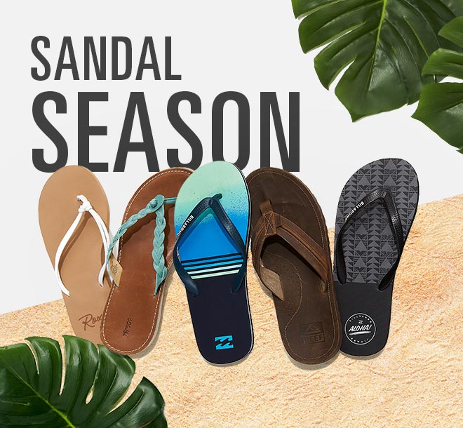 Sandal Season, Footwear from Roxy, OluKai, Billabong, Reef and More