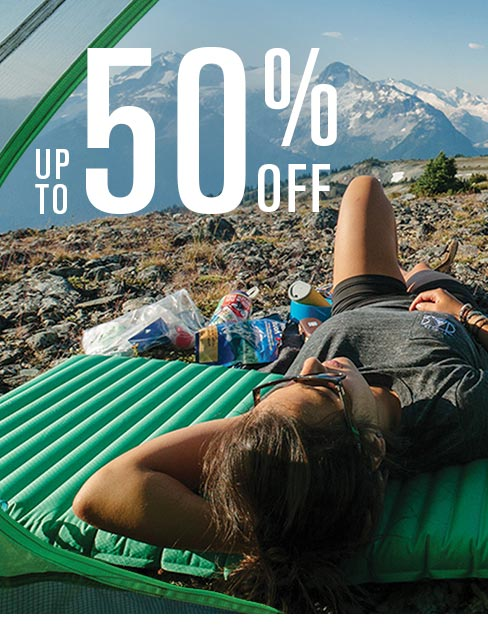 Up To 50% Off, Image of Person Camping in the Mountains