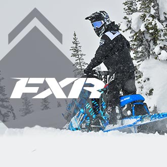 Snowmobiler wearing FXR Brand Gear and Apparel