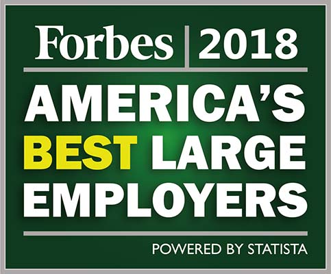 Forbes 2018 - America's best large employers
