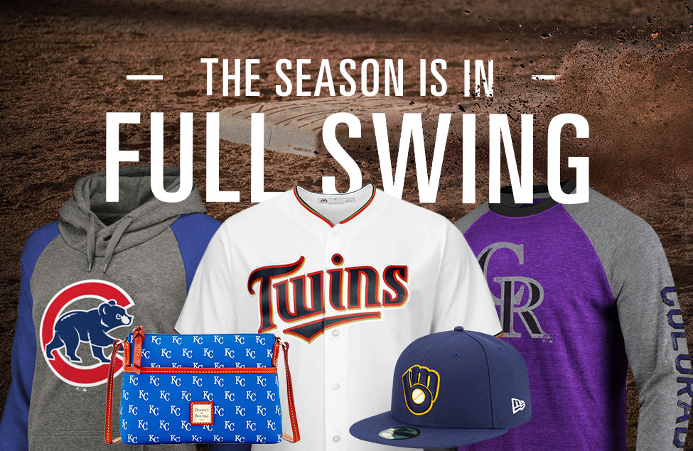 The Season Is In Full Swing. Image of Jerseys, Apparel and Accessories from Major League Baseball teams