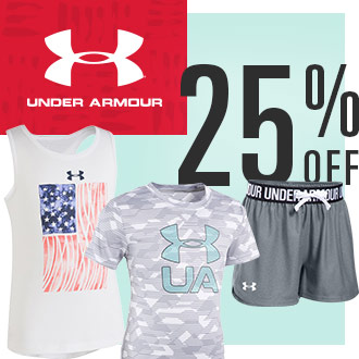 25% Off Under Armour Youth Apparel