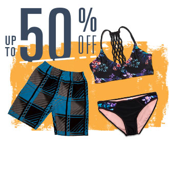 Up To 50% Off, Image of trunks and swim seperates