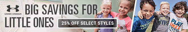 Under Armour Big Savings for Little Ones | 25% Off Select Styles