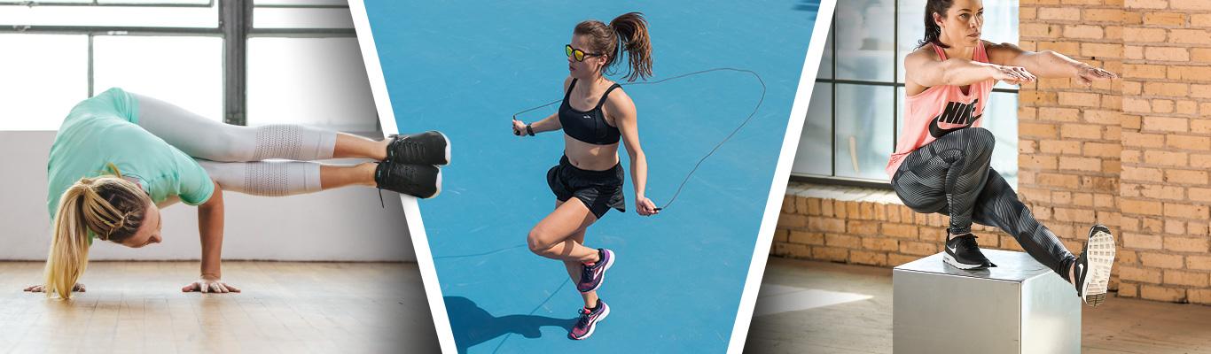 Asics Brroks Nike womens athletic training shoes