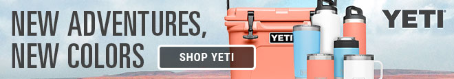 New Adventures, New Colors. YETI Coolers and Drinkware in Coral, Sky Blue and White
