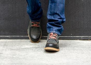 Man wearing Sorel boots