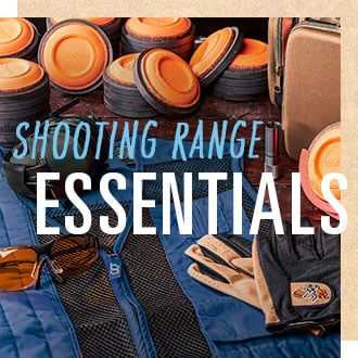 Shooting Range Essentials, clay targets, vests, glasses, gloves, ear protection and more