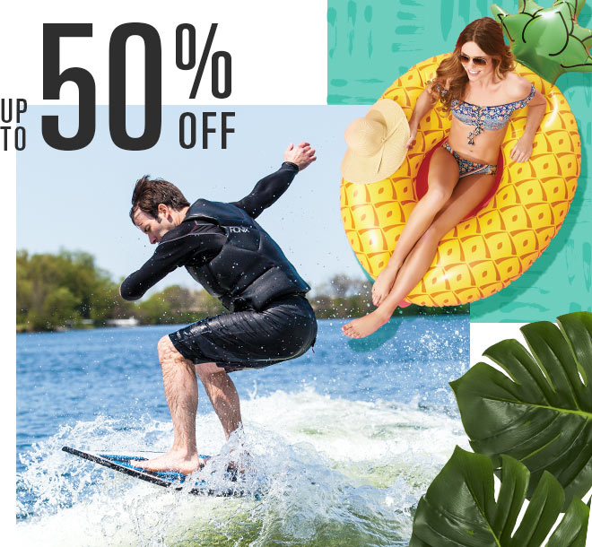Up To 50% Off, Images of Wakeboarder and Giant Pineapple Float